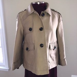 Kenneth Cole Reaction trench inspired short jacket